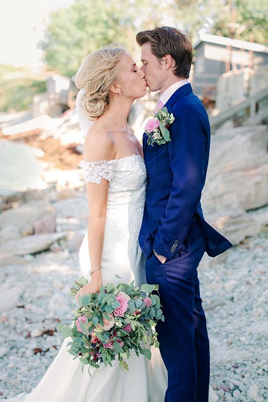 brudpar vid Fridhems strand